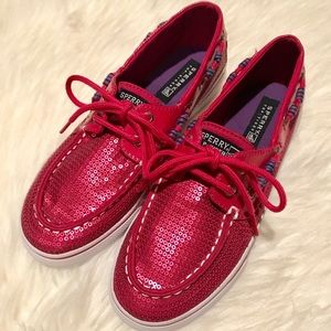 NWOT Sperry Bahama Hot Pink shoes